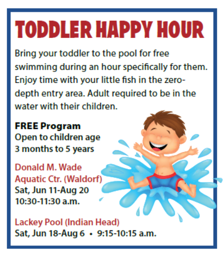 Toddler Happy Hour @ Charles County Pools