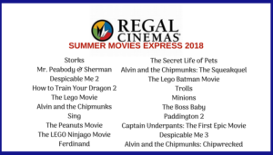 Summer Movies Express @ Regal Cinemas Nationwide